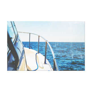 水|海|の空のボート キャンバスプリント