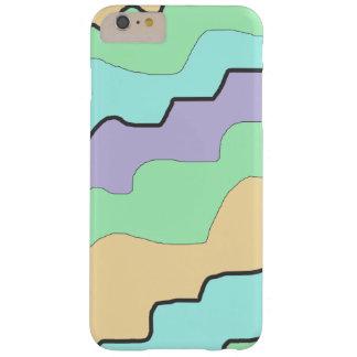 水、紫色および珊瑚のモダンの抽象芸術の電話箱 BARELY THERE iPhone 6 PLUS ケース