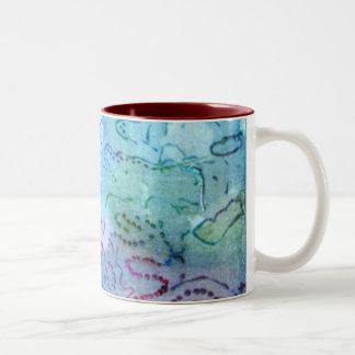 水、芸術のマグの色 ツートーンマグカップ
