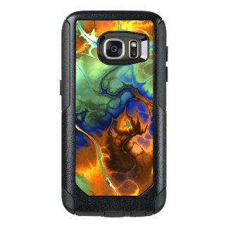 水、青およびオレンジのフラクタルの炎 オッターボックスSamsung GALAXY S7ケース