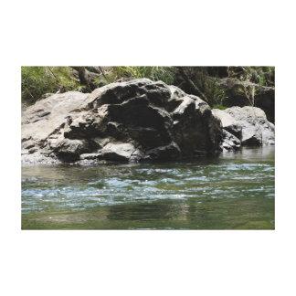 水CATHU州の森林オーストラリアの大きい石 キャンバスプリント
