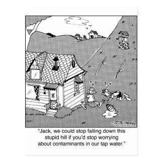 水Contanimantsについてのジャック及びジルの心配 ポストカード