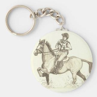 水Eventingの馬の芸術で回して下さい キーホルダー