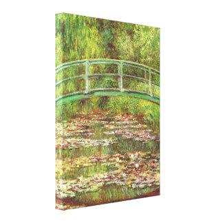 水Lilysのファインアート上のMonet橋 キャンバスプリント