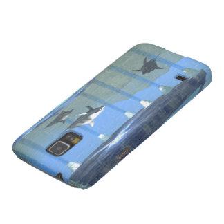 水Samsungの銀河系の関連BTCaseの下のイルカ Galaxy S5 ケース
