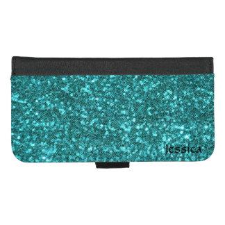 水Sequines iPhone 8/7 Plus ウォレットケース