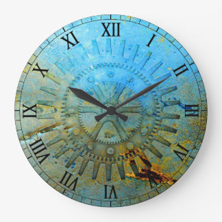 水Steampunkは柱時計を連動させます ラージ壁時計