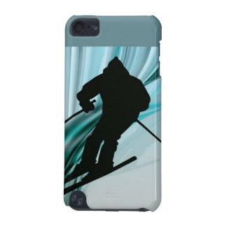 氷ったリボンの下り坂のスキーヤー iPod TOUCH 5G ケース