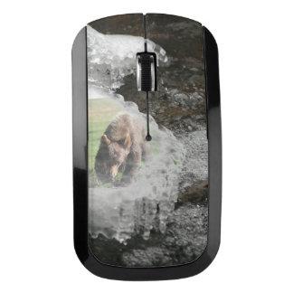 氷った川のくま ワイヤレスマウス