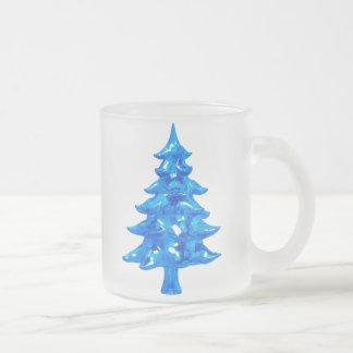 氷った松の木 フロストグラスマグカップ