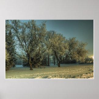 氷った森林 ポスター