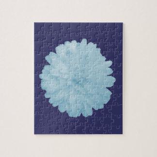 氷った青いマリーゴールドのパズル ジグソーパズル