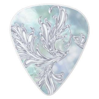 氷った青くカスタムなギターピック ホワイトデルリン ギターピック