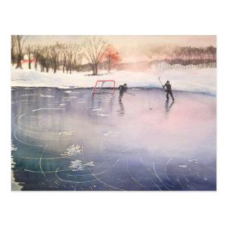 氷で遊ぶこと ポストカード