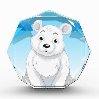 氷に坐っている小さい白くま 表彰盾