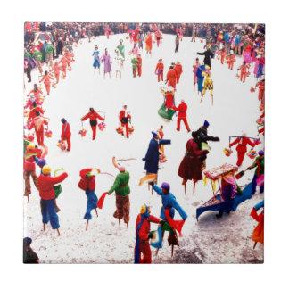 氷のおもしろい、中国のな支柱の踊り タイル
