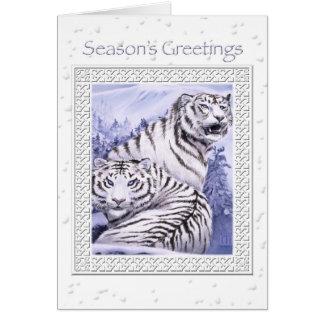 氷のトラのクリスマスカード カード