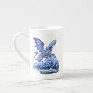 氷のドラゴンのティーカップ ボーンチャイナカップ