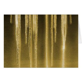 氷のファンタジーの金ゴールドカード カード