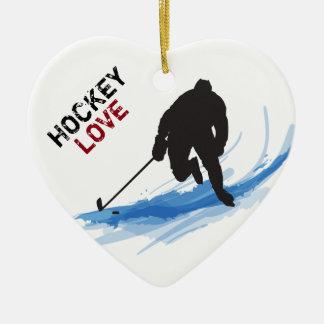 氷のホッケー選手 セラミックオーナメント