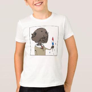 氷のポップ・アートのなホリネズミ Tシャツ