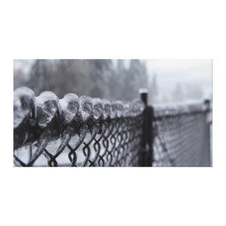 氷の上塗を施してある塀 キャンバスプリント