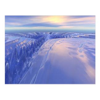氷の割れ目 ポストカード