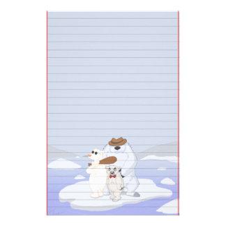氷の文房具の白くまの集団(支配される) 便箋
