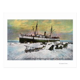氷の汽船の着陸 ポストカード