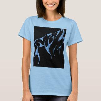 氷の種族のオオカミのTシャツの女性 Tシャツ