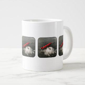 氷の魚釣り ジャンボコーヒーマグカップ