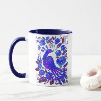 氷の鳥のpetrykivkaのウクライナ人の芸術 マグカップ