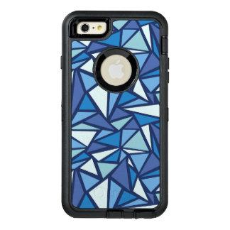 氷のCrsytal抽象的で青いパターン オッターボックスディフェンダーiPhoneケース