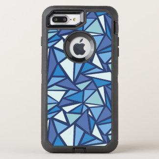 氷のCrsytal抽象的で青いパターン オッターボックスディフェンダーiPhone 8 Plus/7 Plusケース