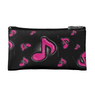 氷ピンク音楽ノートの化粧品のバッグ コスメティックバッグ