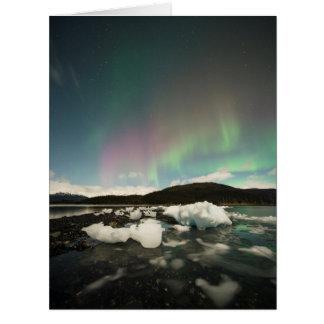 氷山のオーロラ カード