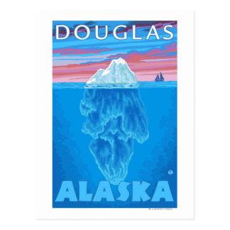 氷山の横断面-ダグラス、アラスカ ポストカード
