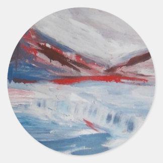 氷山の赤い丘 ラウンドシール