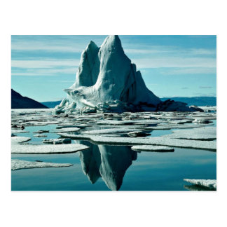 氷山、SlidreのFiord、Eurekaの気象台、NWT ポストカード