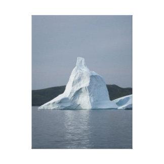 氷山- St Anthonyニューファウンドランド-垂直 キャンバスプリント
