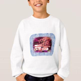 氷晶のテンプレートフレーム スウェットシャツ
