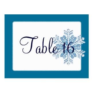 氷晶の結婚披露宴のテーブル数 ポストカード