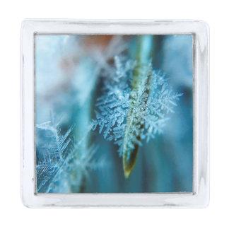 氷晶、冬季、雪、自然 シルバー ラペルピン