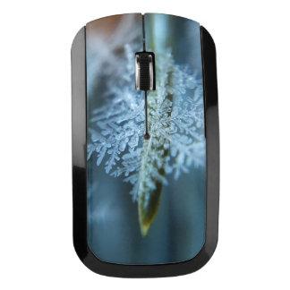 氷晶、冬季、雪、自然 ワイヤレスマウス