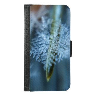 氷晶、冬季、雪、自然 GALAXY S6 ウォレットケース