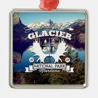 氷河キャンピングカー メタルオーナメント