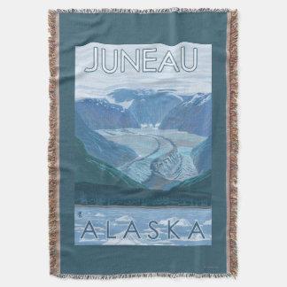 氷河場面-ジュノー、アラスカ スローブランケット