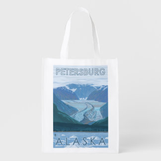 氷河場面-ピーターズバーグ、アラスカ エコバッグ