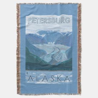 氷河場面-ピーターズバーグ、アラスカ スローブランケット