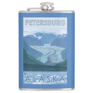 氷河場面-ピーターズバーグ、アラスカ フラスク